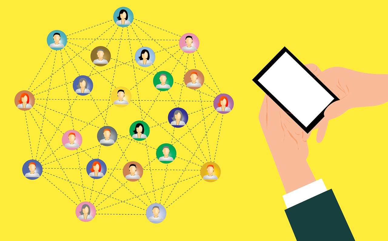 people connected into a network